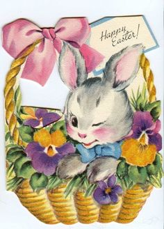 Greeting Happy Vintage Easter | More Vintage Easter Greeting Cards, Complete With The Easter Rooster!