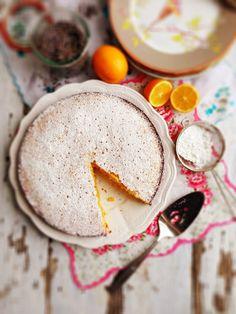 Meyer Lemon & Lavender Polenta Cake