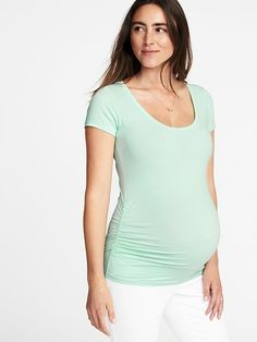 Maternity Fitted Scoop-Neck Tee