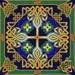 Celtic Gilt Sky Chart by Landmark Tapestries Cross Stitch Designs, Cross Stitch Patterns, Quilt Patterns, Cross Stitching, Cross Stitch Embroidery, Celtic Crafts, Celtic Cross Stitch, Celtic Knot Designs, Craft Shop