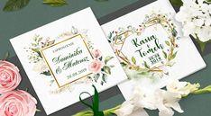 Zaproszenia ślubne RUSTYKALNE KWIATY + KOPERTA 7584587654 - Allegro.pl Place Cards, Place Card Holders