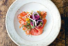 We found ourselves swooning to the simpleness and suppleness of this lovely little salmon salad.