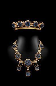 TEFAF Maastricht - Press Highlight Details--Ernesto Pierret (Paris 1824-?) Onyx intaglios and yellow gold Circa 1860s