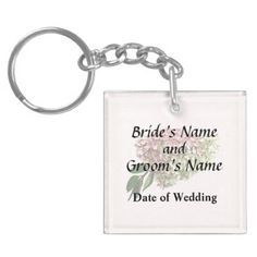 Sprig of Hydrangea Wedding Products Keychain - spring gifts beautiful diy spring time new year
