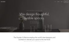 Hayden is a contemporary design favored by small and mid-sized businesses with a chic aesthetic and a modern sensibility. Modern Website, Best Sites, Photography Website, Contemporary Design, Interesting Sites, Cool Designs, Templates, Chic, Shabby Chic