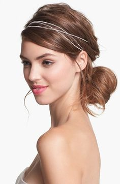 SUCH a great look, simply and subtly achieved. Untamed Petals by Amanda Judge 'Vera' Bohemian Head Wrap | Nordstrom