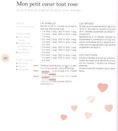 Chaussons en tricot pour mon bébé de C. Bouquerel... corrections de quelques erreurs... - Mouton rose