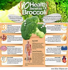 Broccoli offers a substantial amount of lutein, which is good for eye health