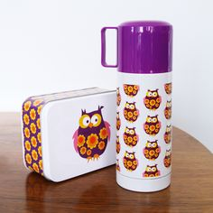 I love love LOVE this retro design stainless steel thermos flask (it's BPA free too – bonus). Made by the unbeatable Blafre, you can nab one over at Lunchbox world for a prickle under Lunch Box Thermos, Purple Drinks, Purple Owl, Stainless Steel Thermos, I Love You Mom, Vacuum Flask, Girly Things, Girly Stuff, Random Stuff