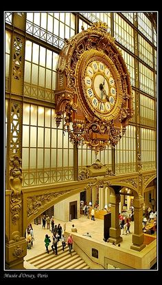 Paris: The Musée d'Orsay is a museum housed in a grand railway station built in 1900.