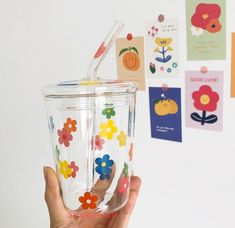 Cute Water Bottles, Cute Cups, Cute Kitchen, Flower Fashion, Cute Food, Cute Room Decor, Flower Prints, Aesthetic Pictures, Just In Case
