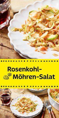 Trendy und Low Carb. Rosenkohl-Möhren-Salat. Ein echtes Highlight in der Genuss-Küche. Überzeuge dich selbst.