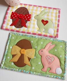 Looking for your next project? You're going to love Easter Mug Rug by designer The Patchsmith.