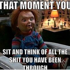 Chucky Horror Movie, Horror Movies Funny, Scary Movies, Terror Movies, Horror Themes, Movie Memes, Best Horrors, Funny Relatable Memes, Hilarious