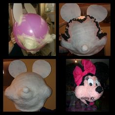 Moldes de piñatas de minnie mouse
