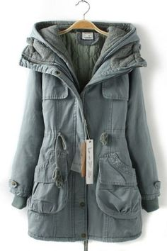 Super Warm and Cozy Trench Coat Style Outerwear #blue #winter #fashion
