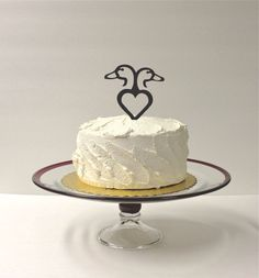 DUCK Wedding Cake Topper Country Western by CreativeButterflyXOX, $18.95