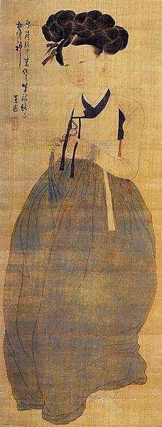 Portrait of Beauty by Yunbok Shin (early 19 century)