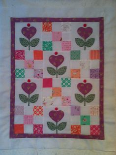 OOAK Hand Appliqued Scrappy Quilt Top with by VAMountainQuilts, $30.00
