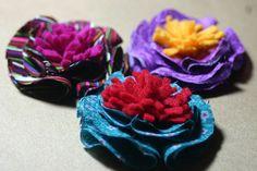 Fabric and Felt Flower {no sew}