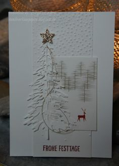Es gibt Tage……… (HandWerk aus Papier) there's running! Today was such a day when the Christmas cards for my fund-raising campaign went by almost like clockwork. Christmas Cards 2017, Xmas Cards, Holiday Cards, Diy Cards, Christmas Makes, Christmas Fun, Winter Cards, Pretty Cards, Card Tags