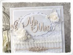 Scrap Art by Lady E: Scrap & Craft - Lace & Pearls Challenge
