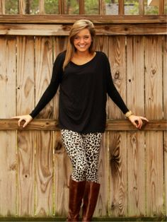 PIKO BRAND Tunic Top: Black