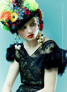 Volt  March 2012  Photographer: Oly Barnsley  Model: Melissa Dell  Stylist: Desiree Lederer