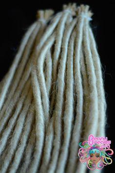 Blonde U-Tip Synthetic Dreadlocks (10 pieces) - 100% Kanekalon. – Penny Dreads & Wigs
