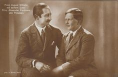 August Wilhelm and his son. Adele, Queen Victoria Family, Ferdinand, Kaiser, Royalty, Couple Photos, Fictional Characters, Photographs, German