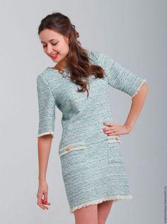 Платья ручной работы. Ярмарка Мастеров - ручная работа. Купить Платье в стиле Шанель. Handmade. Мятный, платье мини