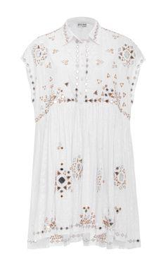 e402901ca9 Embroidered Shirt Dress by JULIET DUNN Now Available on Moda Operandi  Juliet Dunn