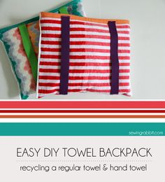 If you're looking for an EASY way for your kids to carry their towel? This clever beach towel is both a backpack AND a towel! Jess {Creative Team} is here to show us how to make a Beach Towel backpack! These adorable bag/towel combos are perfect for