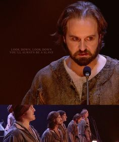 Les Miserables challenge - a graphic per song in the anniversary - Prologue: Work Song Lin Manual Miranda, Jean Valjean, 2012 Movie, Best Jeans, Broadway, 25th Anniversary, Musical Theatre, Little People, My Music