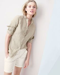 Wear Now: White - J.Crew - Spring 2014 - J.Crew linen Perfect shirt.