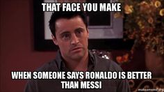 Ronald better than Messi : no way! Ronaldo Memes, Ronaldo Quotes, Lionel Messi Quotes, Funny Soccer Memes, Sports Memes, Messi Funny, Meme Messi, Messi Vs Ronaldo, Soccer Motivation