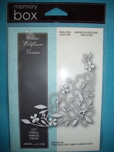 ** Memory Box *Wildflower Corner* Die - Compatible with Cuttlebug & Sizzix **