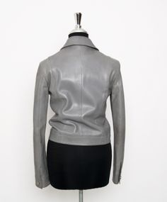 Céline Grey Leather Jacket | From a collection of rare vintage jackets at http://www.1stdibs.com/fashion/clothing/jackets/