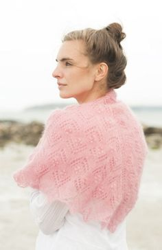 Get a taste of heaven on earth with this free knitting pattern for the Angel Shawl.  It's light, elegant and perfect for summer.