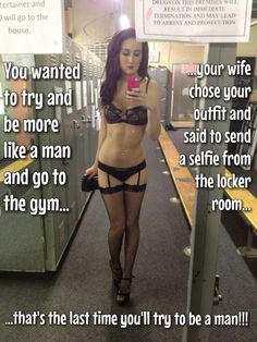Give up...even your wife thinks you should be a sissy slut. Let her out. @rinsersgirls #sissy #captions