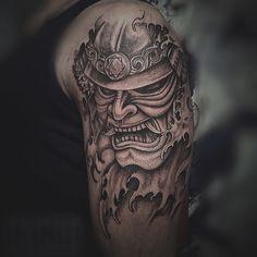 Samurai mask tattoo Vintatts