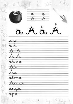 Írott betűk - kisferenc.qwqw.hu First Grade Classroom, Alphabet Worksheets, Home Learning, Teaching Tips, Cursive, Special Education, Cool Kids, Literature, Homeschool