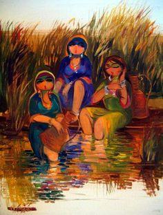 Shakir Al Alowsi Mongolia, Sri Lanka, Timor Oriental, Arabian Art, Art Optical, Painter Artist, Sand Art, Naive Art, Egyptian Art