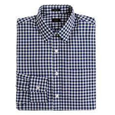 Ludlow point-collar shirt in medium gingham - Ludlow Dress Shirts - Men's shirts - J.Crew