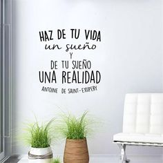 Spanish Inspirational Positive Quotes Vinyl Wall Sticker Life Dreams Art Decals For Spanish
