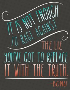 replace with truth