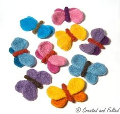 Butterfly Brooch by createdandfelted | Knitting Pattern