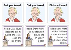 Teacher's Pet - Roald Dahl Did You Know? Fact Cards - FREE Classroom Display Resource - EYFS, facts, did you know, flap Más Roald Dahl Day, Roald Dahl Books, School Displays, Classroom Displays, Library Displays, Roald Dahl Activities, The Twits, Did You Know Facts, Teachers Pet