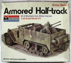 monogram plastic model kits | ... Half-Track M-16 Multiple Gun Motor Carrier, 8215 plastic model kit