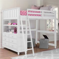The White Lake House Loft Bed is the perfect piece of furniture for your child's room!